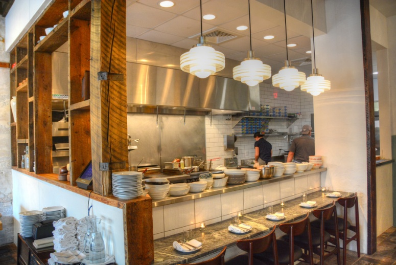 The open kitchen with seating for those of us who want to be right on top of the action.