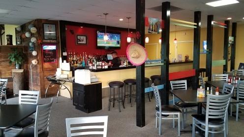 The full service bar at El Faro.