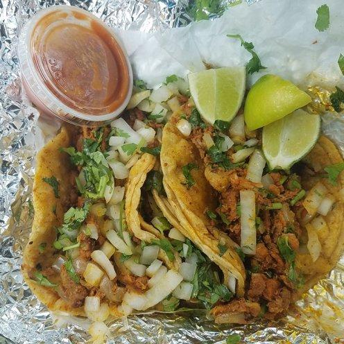 Carniceria San Jose's pork tacos.