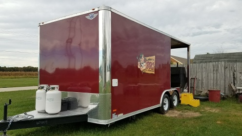 Look for the maroon Lawney's BBQ truck wherever good food is served.
