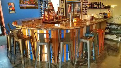 Fancy main bar at Uncorked in Rochester, Indiana