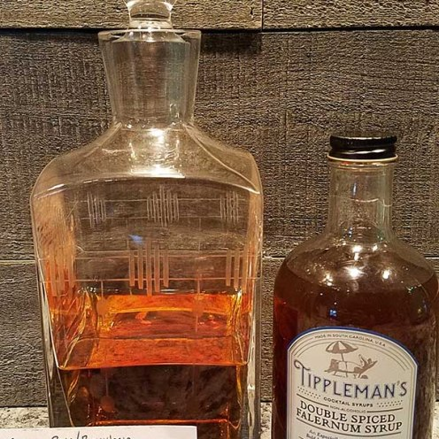 The recipe the Kirkendalls recommended for the Tippleman's syrup I received for my birthday. The decanter features their Retro pattern and was also part of my birthday gift! By the way, the cocktail was delicious!