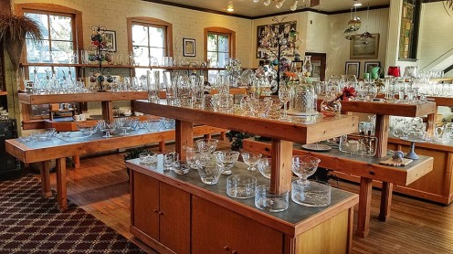Some of the items offered for sale at Warsaw Cut Glass.