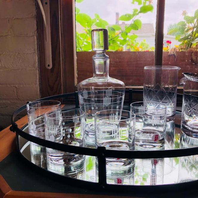 Just a few of the unique items offered for sale at Warsaw Cut Glass.