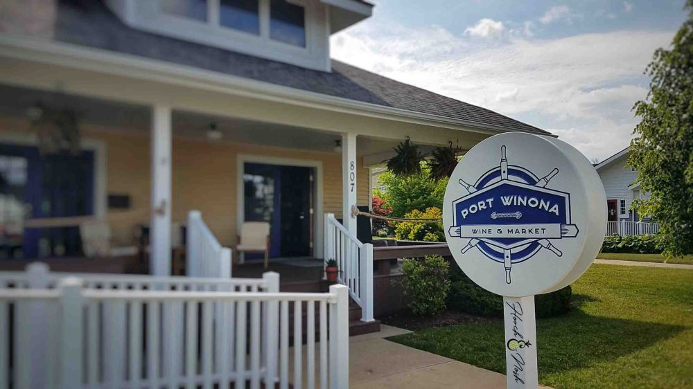 Port Winona Wine and Market, located in Winona Lake, Indiana at the Village at Winona.