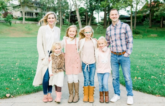 Jeri with her husband Matt and their four daughters.