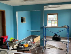 Construction at Asian Cajun Express, a new restaurant set to open in Milford, Indiana