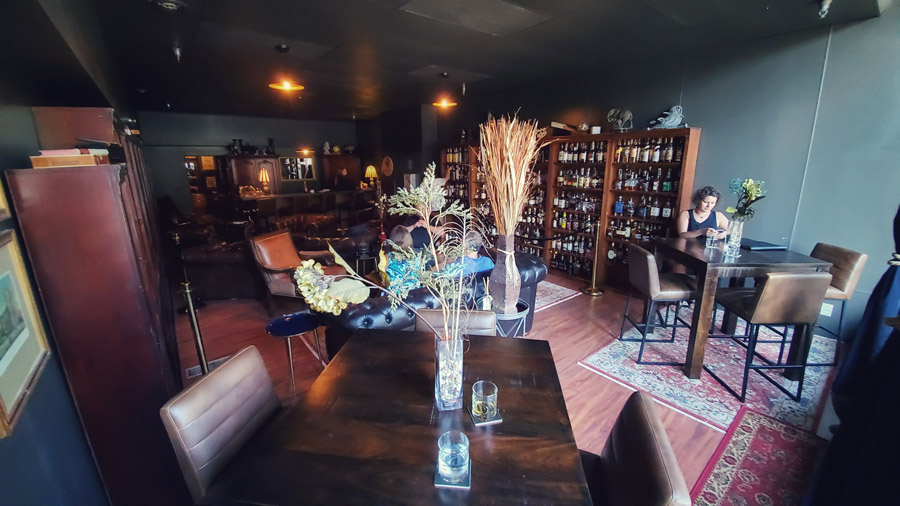 view from the front of Anthology Whiskey Room